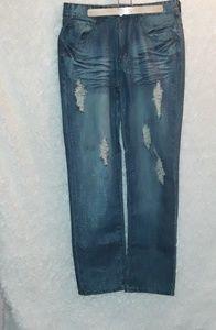 Fe Foeyal mens ripped jeans